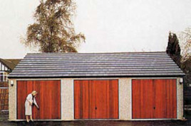 Heritage secure concrete battery garages with tiled roofs