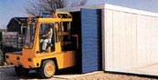 Trader garages for secure housing of commercial vehicles
