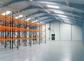 Warehouse built using the Leofric Enterprise system